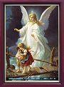 名畫經文框-天使護童