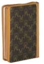 聖經/CU67RJQZTI/紅字織紋拉鍊索引上帝版(深.淺咖.紅)