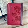 聖經/SR38ARZ5.2/(桃紅)儷皮雙拼拉鍊銀邊紅字版