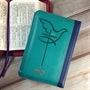 聖經/SR38ARZ6.2/(蔚藍)儷皮雙拼拉鍊銀邊紅字版